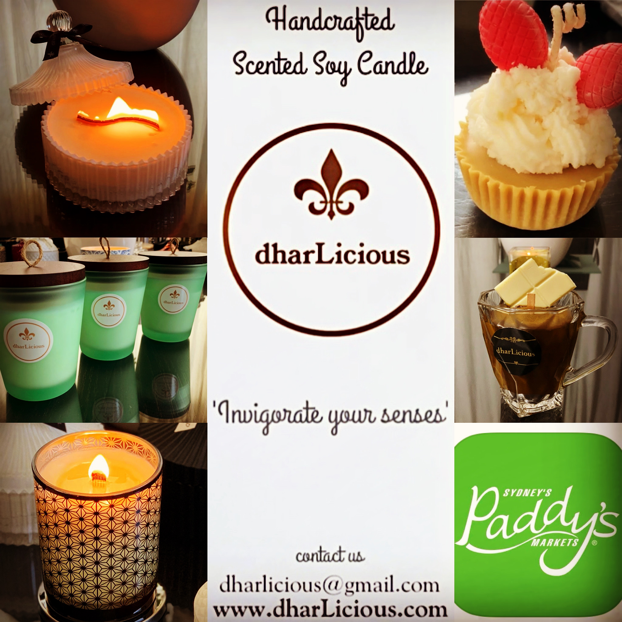 dharLicious – handcrafted scented soy candles